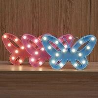 فراشة النمذجة جنية الليل ضوء abs البلاستيك الصمام الجدول مصباح مكتبي نوم جو هدية الزفاف الديكور تأثيث المنزل