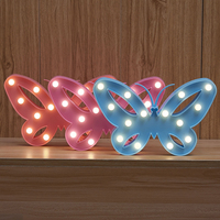 Butterfly Modelling Fairy Night Light ABS Plastic Led Table Desk Lamp Bedroom Atmosphere Wedding Decoration Gift
