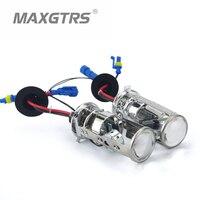 2X 2017 Mini Bi Xenon Lens H4 Bi Xenon Car HID Projector Lens Headlight Headlamp Fast