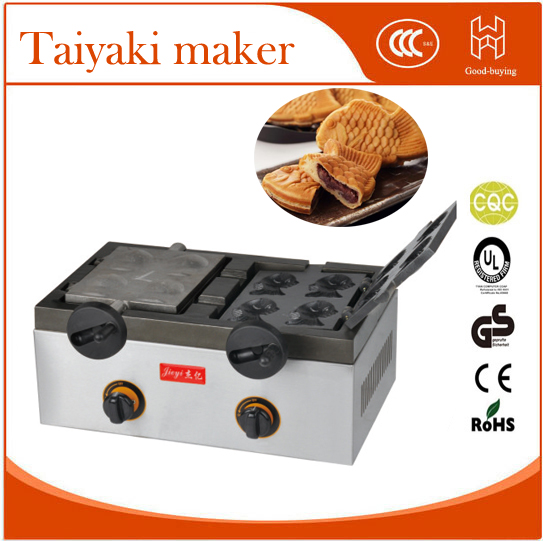 Whosale gas 8pieces Japanese Fish Taiyaki Baker  fish stuff donut maker 2 snack equipment