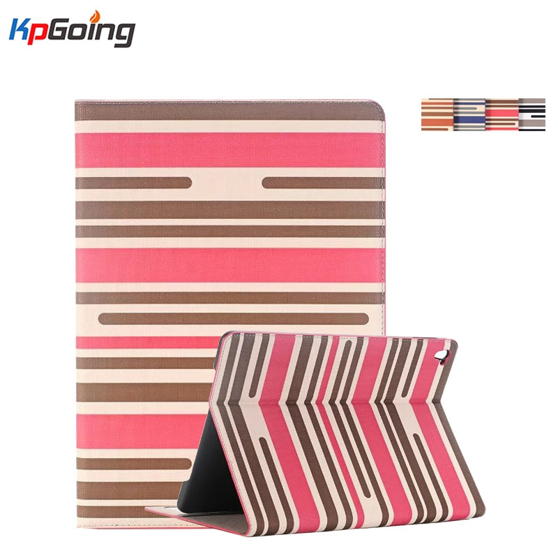 New Cover Case for Apple IPad Mini 4 Luxury Chromatic Stripes PU Leather Stand Full Protect Tablet Case for IPad Mini 4  Fashion btd stand tablet case cover for apple ipad mini