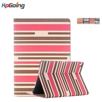 New Cover Case for Apple IPad Mini 4 Luxury Chromatic Stripes PU Leather Stand Full Protect Tablet Case for IPad Mini 4  Fashion