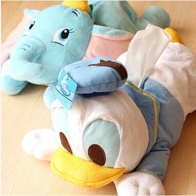 Dumbo cartoon Donald s car with a tissue box of Kleenex cover paper towel tube birthday