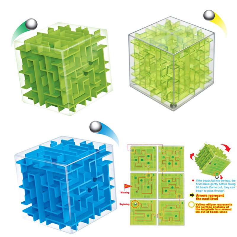 3D Maze Magic Cube Puzzle Speed Cube Puzzle Game Labyrinth Ball Toys Cubos Magicos Maze Ball Games Educational Toys