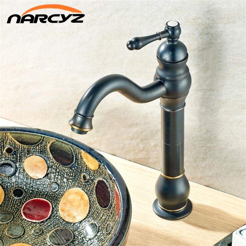 Basin Faucets Brass Oil Rubbed Bronze European Bathroom Sink Faucet 1 Lever Hole Countertop Deck Hot Cold Mxier Water Taps B513Basin Faucets Brass Oil Rubbed Bronze European Bathroom Sink Faucet 1 Lever Hole Countertop Deck Hot Cold Mxier Water Taps B513