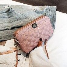 e11c6bb86f99 Małe 2019 panie Crossbody torby dla kobiet luksusowe skórzane torebki  torebki projektant kobiet torba różowe torebki