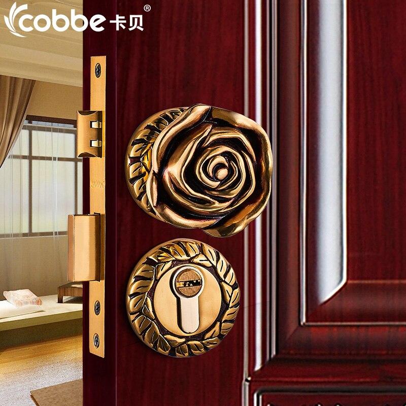 Aliexpress.com : Buy Full Brass wood Door Lock Simple Wooden Door ...