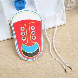 1 pièces aléatoire enfants Montessori jouets éducatifs enfants jouets en bois enfant en bas âge laçage chaussures éducation précoce Montessori matériel didactique