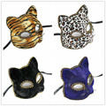 Tiger Leopard Print Mask Dance Party Cloth Cat Blue Black Fashion Sexy