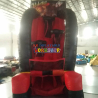 Customized 4x2x4.15M Inflatable throwing ball type carnival games for adult and children toy throwing bouncer