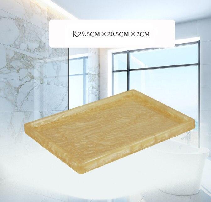 Style nordique exquis plateaux de rangement cuisine organisateur plat décoratif plateau haute qualité résine Shell hôtel salle de bains plateau LFB244