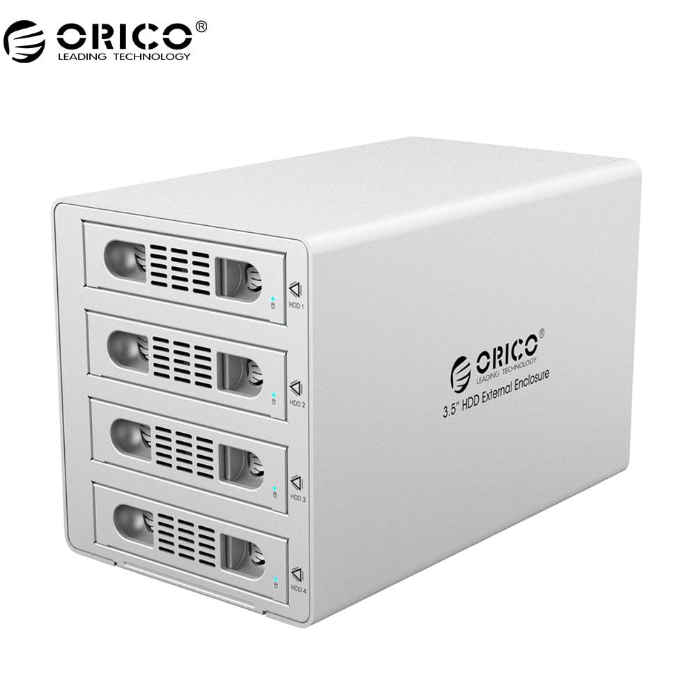 ORICO 3549RUS3  Aluminum 3.5 Inch External Multi Bay HDD Enclosure USB 3.0 ESATA Port With Multiple RAID Modes HDD Case - Silver