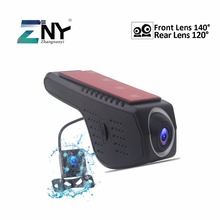 Автомобильный dvr камера двойной объектив ночное видение HD видео регистраторы Регистратор Автомобильный видеорегистратор dvr регистраторы для Android авто радио