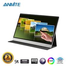 Anmite 15,6 дюймов ips FHD компьютер USB-C Портативный сенсорный монитор сердечного ритма ПК TYPE-C HDMI PS4 Xbo x360 1080 P светодиодный Дисплей для Raspberry Pi