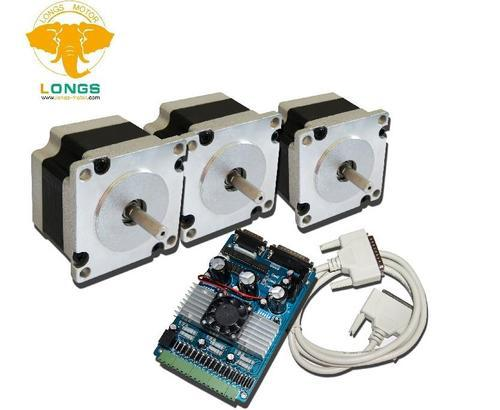 PROMMITION!!! 3Axis Nema 23 Stepper Motor 270oz-in 6leads 3.0A& Driver board TB6560 CNC Router Plasma CNC controller kitPROMMITION!!! 3Axis Nema 23 Stepper Motor 270oz-in 6leads 3.0A& Driver board TB6560 CNC Router Plasma CNC controller kit