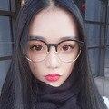 Big rodada óculos retro lentes ópticas óculos de marca do vintage das mulheres com limpar melhor pontos armação de óculos feminino marca