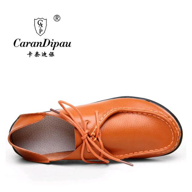 Shoes Woman 2016 Genuine Leather Women Shoes Flats 8 Colors Loafers Slip On Women's Flat Shoes Moccasins Plus Size 35-41