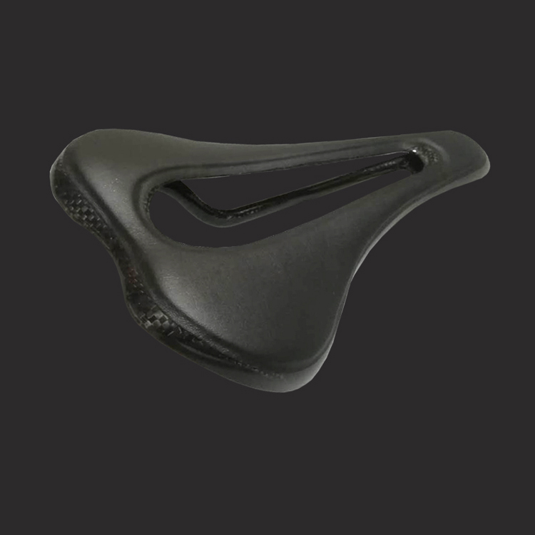 carbon bike leather saddle