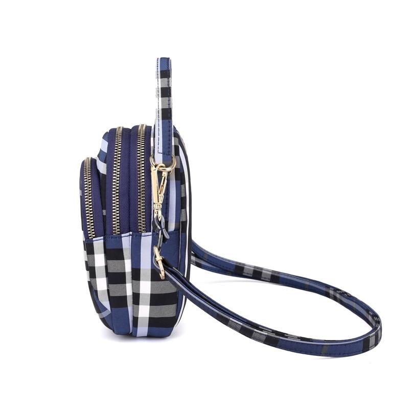 Women's mini bag trend single shoulder Messenger bag factory direct light waterproof nylon cloth bag mobile phone key bag 2