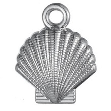 TJP 10pcs Antique Silver Tone Seashell Shell Scallop Charms Pendants for Necklaces DIY Handmade Jewelry Making Findings 13x16mm