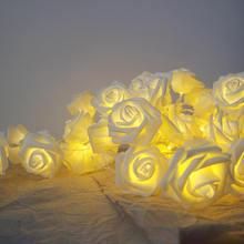 6 метров 40 розовая гирлянда со светодиодной подсветкой для праздничного вечеринки для вечеринок, цветочным светом, ночным освещением