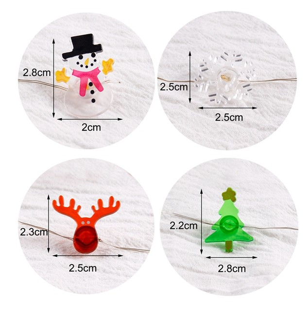 QIFU Snowman Elk Garland Holiday Light String Merry Christmas Decor for Home Christmas 2019 Ornament Navidad Natal New Year 2020 21
