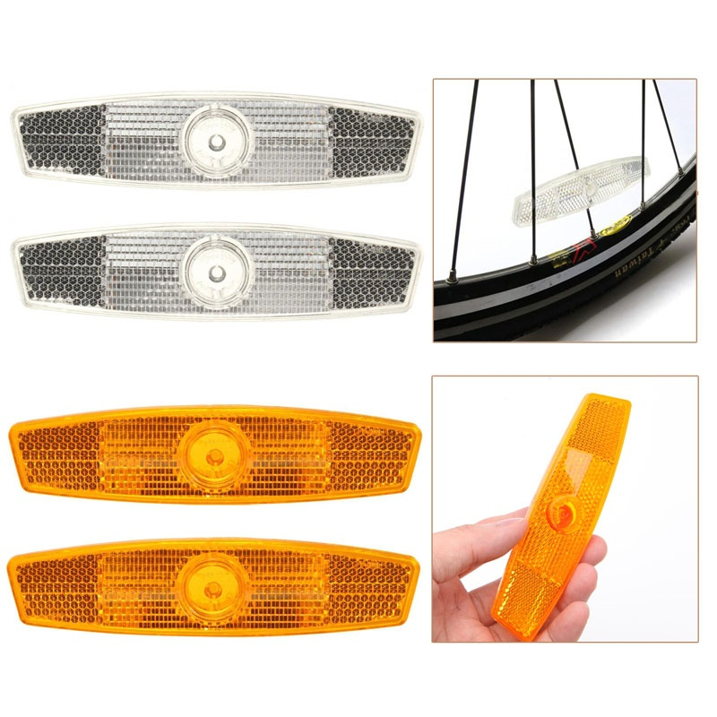 Outdoor Sports Bicycle Bike Wheel Reflector 1pc Safety Spoke Reflective Light Mount Cycling Night Warning Tool Accessories