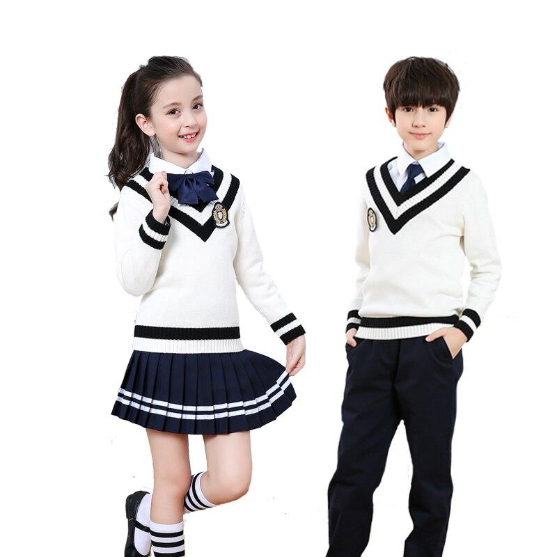 School Uniform For Girl Korean School Uniform Children's Chorus Performance British Uniform