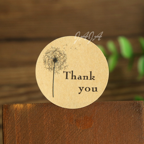 100pcs/lot New Thank You Seal Stickers Gift Seal Sticker For Homemade Bakery&gift Packaging (tt-1149-1)