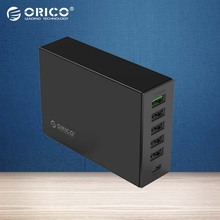ORICO TSL-6U Type-C QC2.0 Quick Charger 6-port 5V2.4A 9V2A 12V1.5A Mobile Phone Charger for Apple Iphone 6 Plus Samsung
