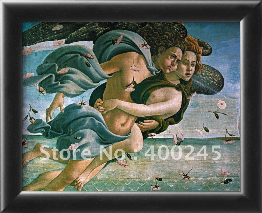 Peinture A L Huile De Bonne Qualite Avec Naissance De Venus Artistique Moderne Faite A La Main Couple Mythologique De Reproduction De Sandro Botticelli Aliexpress