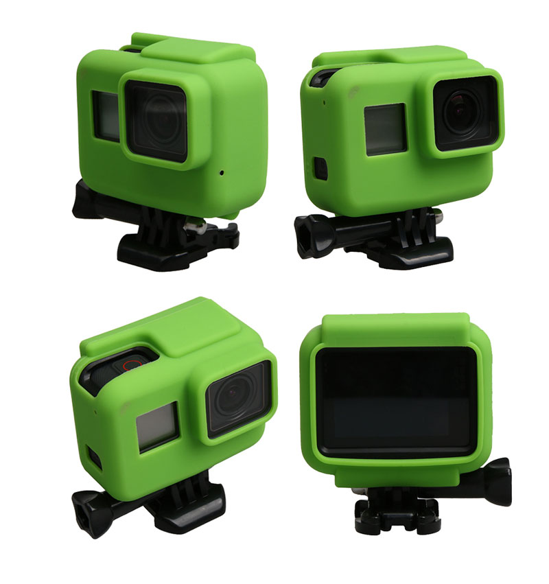 Colorful Soft Silicone Rubber Frame Protective Case for GoPro Hero 5 Black Protective Cover for Go Pro 5 Camera Accessories (9)