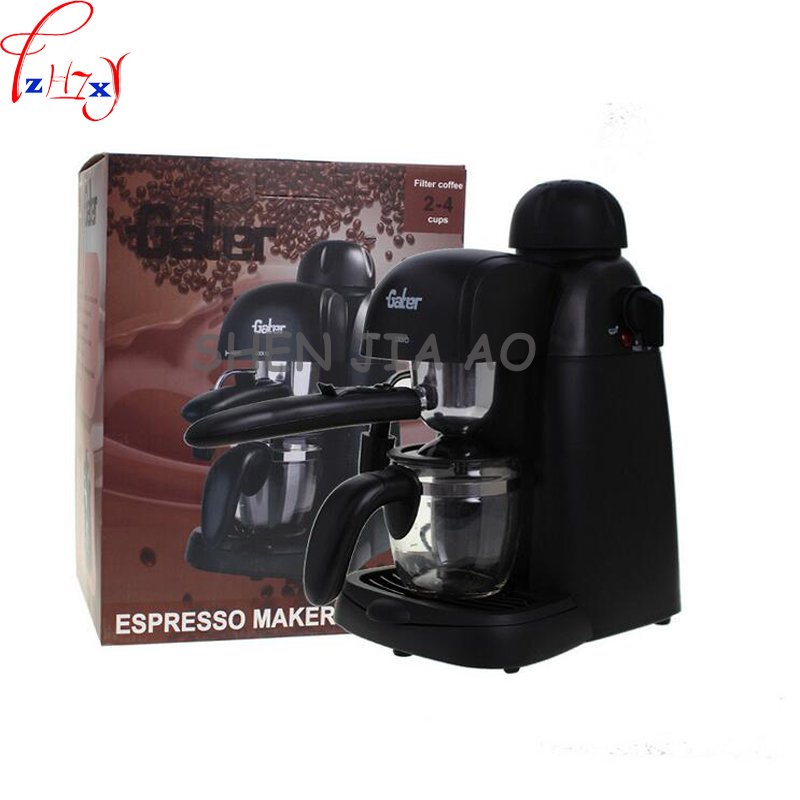 1pc 220V 800W Commercial / Household Semi automatic Italian Coffee Maker Vessel Coffee Maker Homemade Cappuccino
