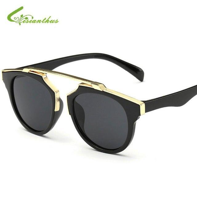 279c15d773 2019 mode ronde enfants lunettes de soleil enfant garçons filles lunettes  de soleil enfant cadre en