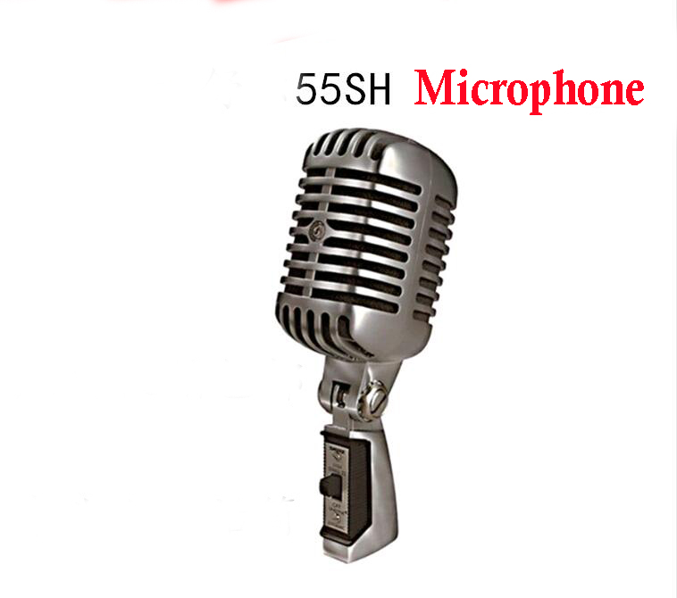 Professional 55SH II Series Wired Dynamic Vocal Microphone Vintage Style Mic For Stage Karaoke KTV Studio 55SH Mike  free shipping high quality version sm 58 58lc sm58lc wired vocal karaoke handheld dynamic microphone microfone microfono mic