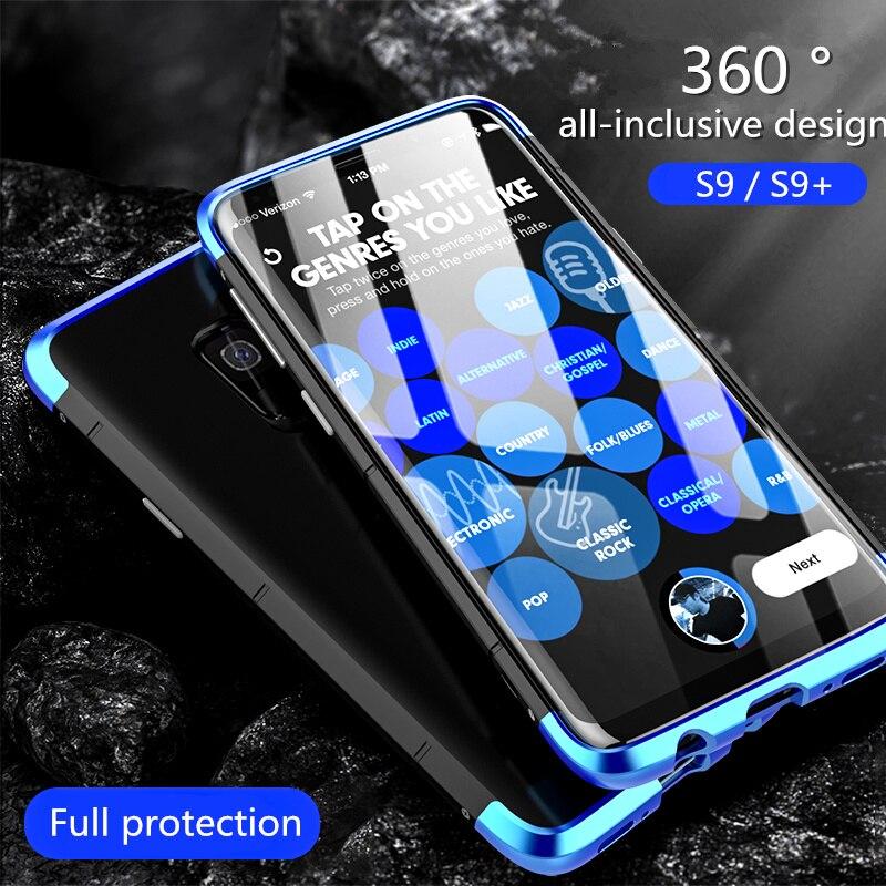 Para Samsung Galaxy Caso S9 BOBYT 3in1 Shockproof Metal de Alumínio de Luxo + PC Magro Bumper Case Para Samsung Galaxy S9 Mais Cobertura
