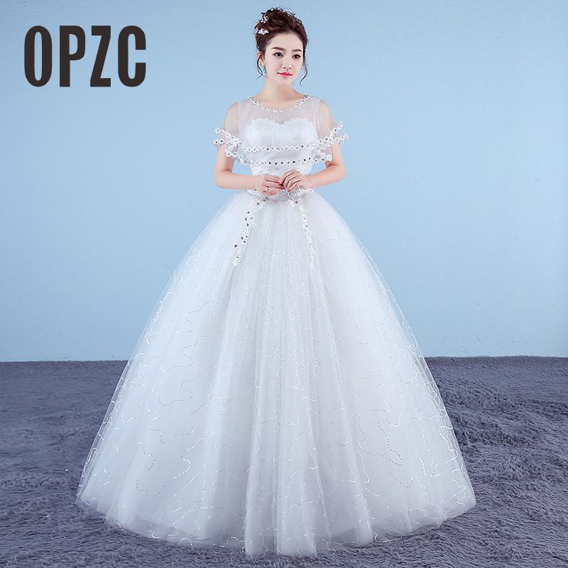 Cheap Wedding Dresses 2017 Lace Wedding Gowns Princess: White Princess Cheap Plus Size Girls Wedding Dresses 2017