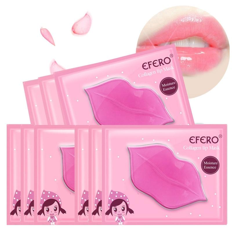 10/15pack Nourishing Repair Lip Mask Moisturizer Collagen Crystal Pink Lips Cream Gel Pads Anti Wrinkles Essence Skin Care