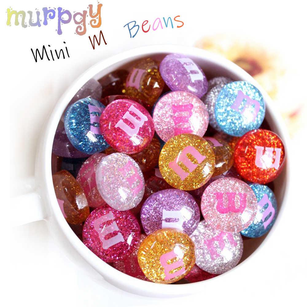 10 pçs mini m bean adição lodo enchimento para plasticina macia decoração de polímero crianças brinquedos lizun diy acessórios modelo ferramenta
