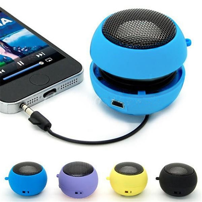 Universal Portable Wired Subwoofer Speake r3 5mm Plug Mini Hamburger Computer Bass Speaker For iPhone For