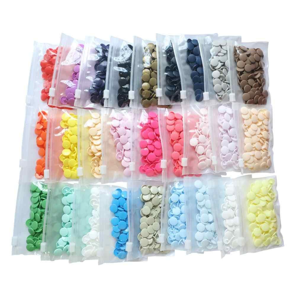 พลาสติก Snap Fasteners T5 12 มม. 100 ชุด KAM Sew บนปุ่ม Snap พลาสติกขนาด 20 รอบสำหรับ DIY เย็บผ้า Bib เด็ก