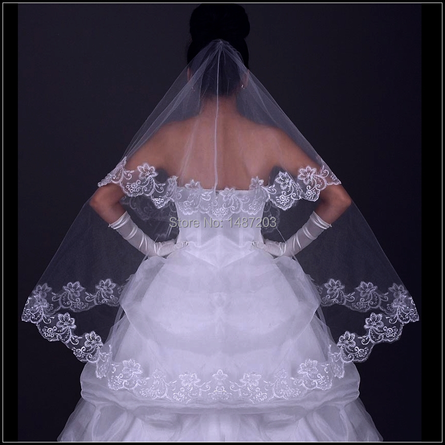 Online Lace Veil 2017 Wedding Meaning Ivory Cathedral With Crystals Aliexpress Mobile