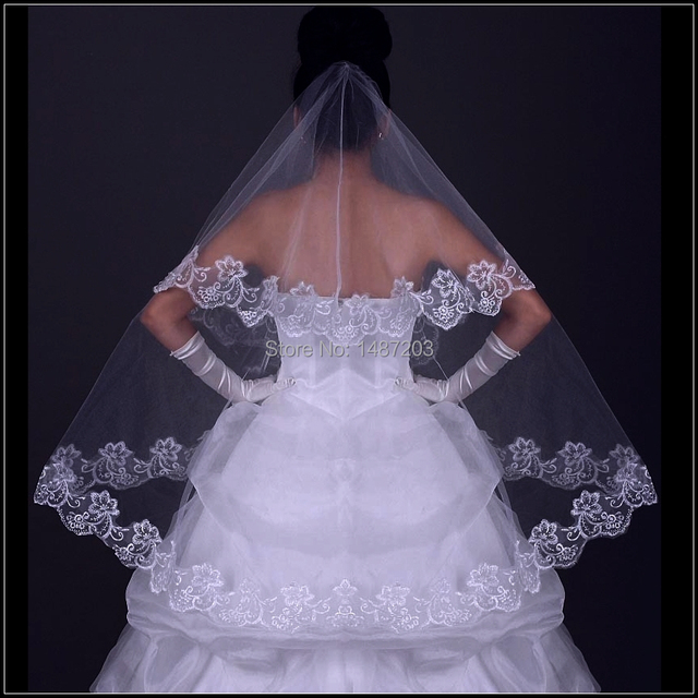 Lace Veil 2017 Wedding Meaning Ivory Cathedral With Crystals