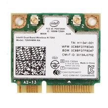 להקה כפולה עבור Intel Wireless n 7260 7260HMW חצי Mini Pci e 300Mbps אלחוטי Wifi + Bluetooth 4.0 מחברת Wlan כרטיס