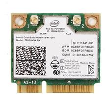 Tarjeta Wlan de doble banda para Intel Wireless N 7260 7260HMW AN Half Mini Pci e, 300Mbps, inalámbrica, Wifi + Bluetooth 4,0, Notebook