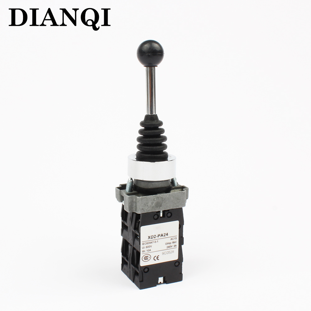 XB2 PA24 xd2-pa24 XB2-PA24 4NO 4 positions Cross push button switch Joystick Switch spring return Momentary self-Reset(China)