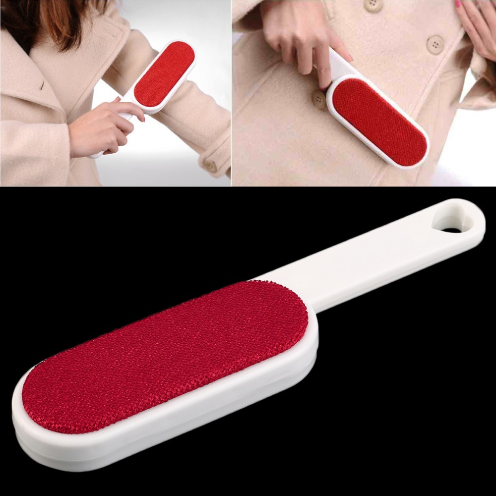 1Pc Clothes Dusting Static Brush Two-sided Hair Remover Tearing Cleaning Tool Brand New