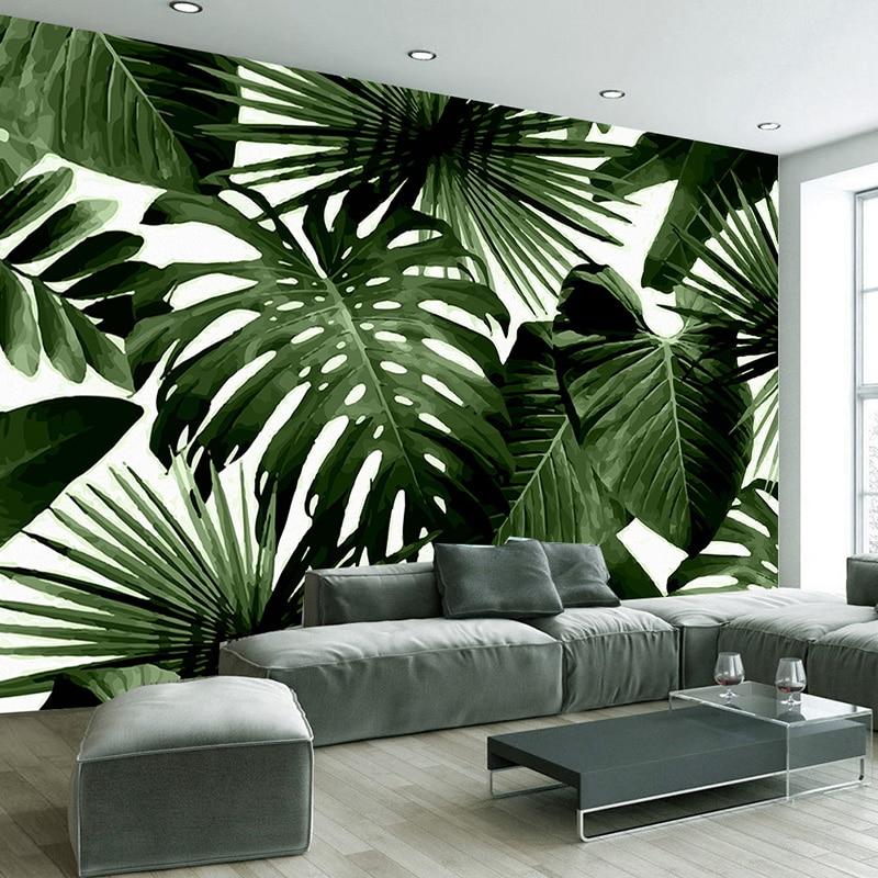 Tropical Rain Forest Banana Leaves Photo Wallpaper Custom Wall Painting Living Room Sofa Bedroom Background Wall Decor 3D Murals