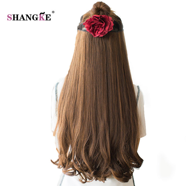 Shangke 26 Long Clip In Hair Extensions Clip In Synthetic Hair