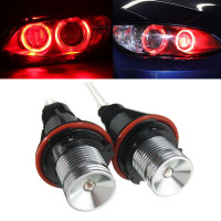 2pcs 12W Red Canbus Angel Eyes Ring LED Lights Bulb DRL For BMW X5 E39 E60